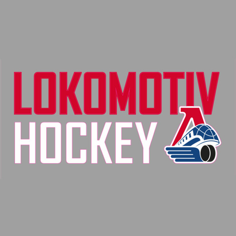 "Наклейка ""LOKOMOTIV HOCKEY"" (14*6 см.)"