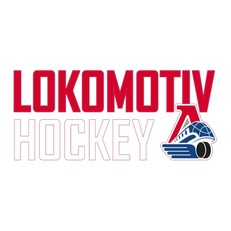 "Наклейка ""LOKOMOTIV HOCKEY"" (21*9 см.)"